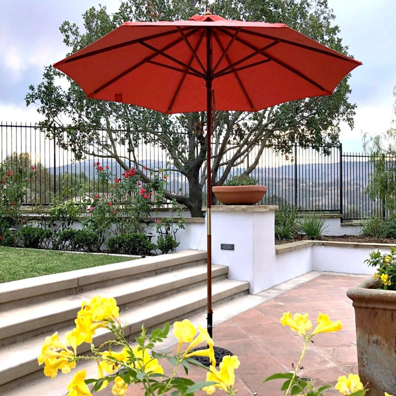 9ft Market Patio Umbrella 8 Rib Replacement Canopy Sunbrella Fabric Echo Sangria