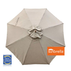 11ft Market Patio Umbrella 8 Rib Replacement Canopy Sunbrella Spectrum Mushroom