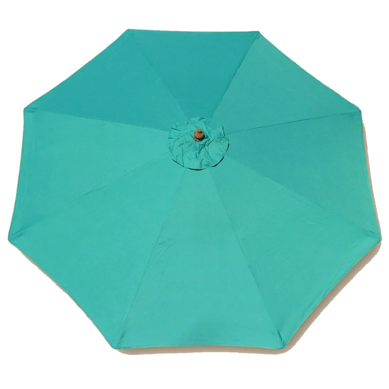 9ft Market Patio Umbrella 8 Rib Replacement Canopy Turquoise Olefin