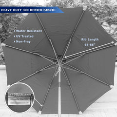 11ft Market Patio Umbrella Double-Vented 8 Rib Replacement Canopy Red