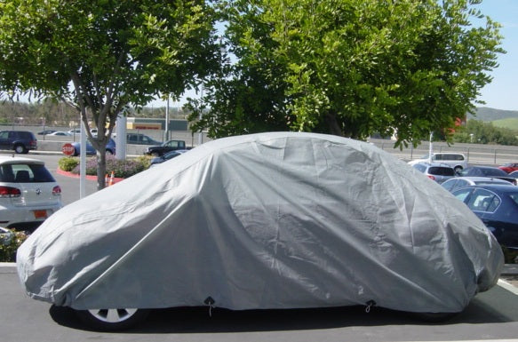 "Car Cover for Volkswagen Beetle, Sports car 3 layer 161""L x 70""W x 55""H Poly 200 Grey - Formosa Covers"