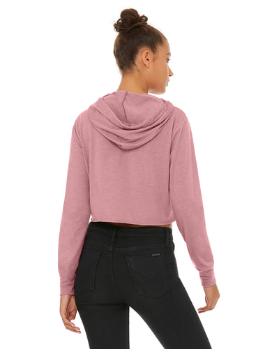 8512 Bella + Canvas Ladies' Cropped Long Sleeve Hooded T-Shirt
