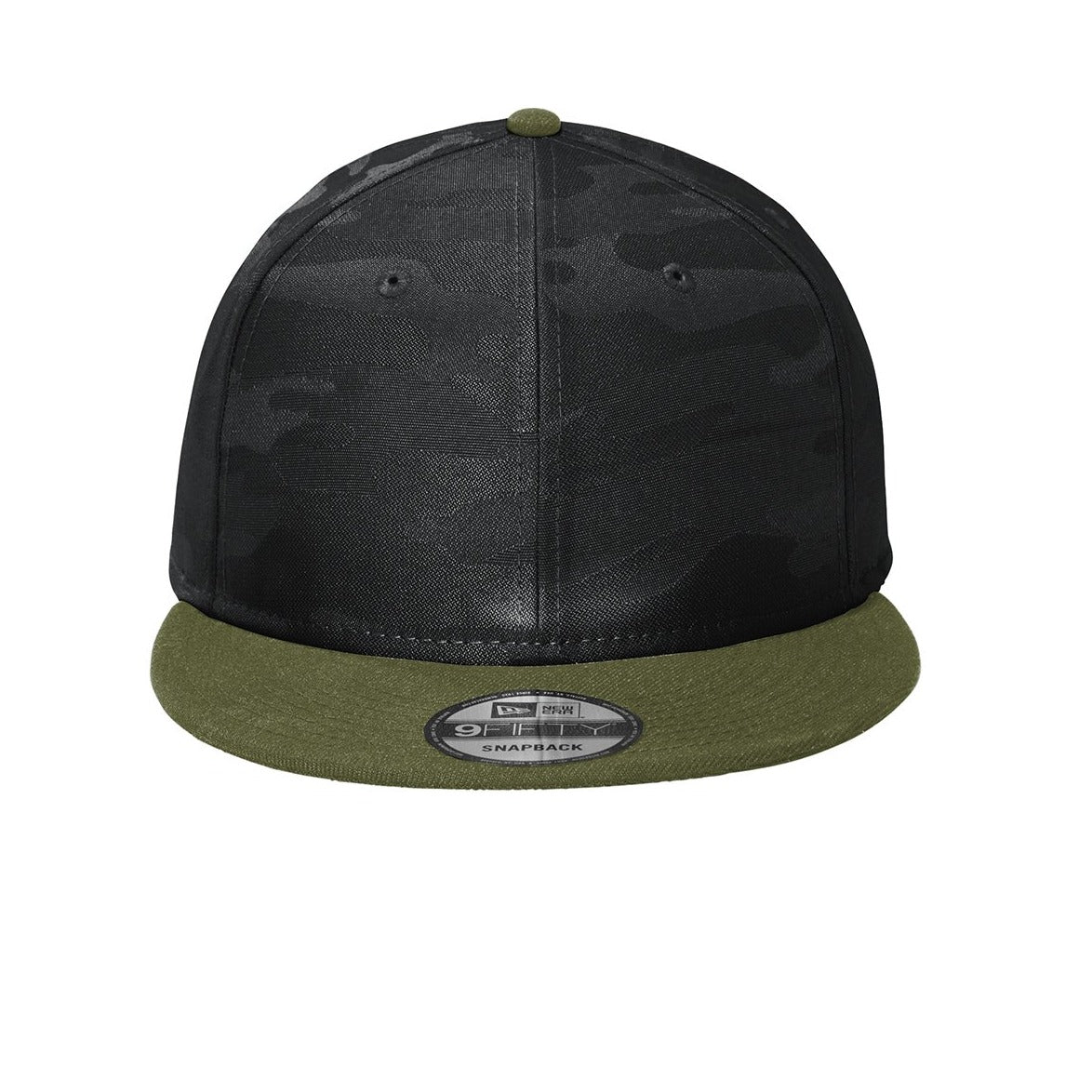 NE407 New Era ® Camo Flat Bill Snapback Cap