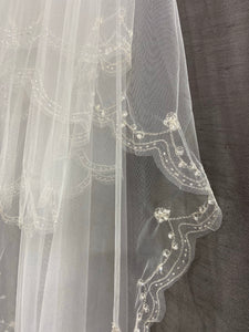 Double layer veil #115