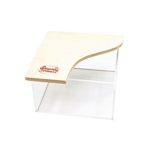 Acrylic Square Potty with Wood Lid