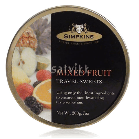 SIMPKINS MIXED FRUIT TRAVEL SWEETS 200G