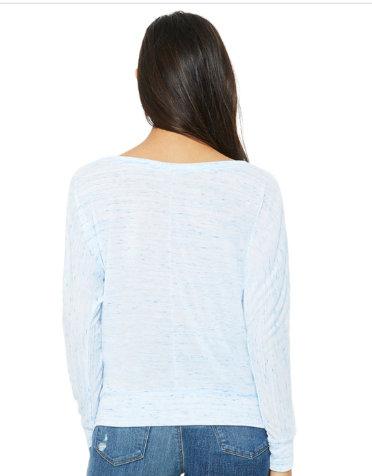 """Got Curves, What You Got?""  Flowy Long Sleeve Off Shoulder Tee"