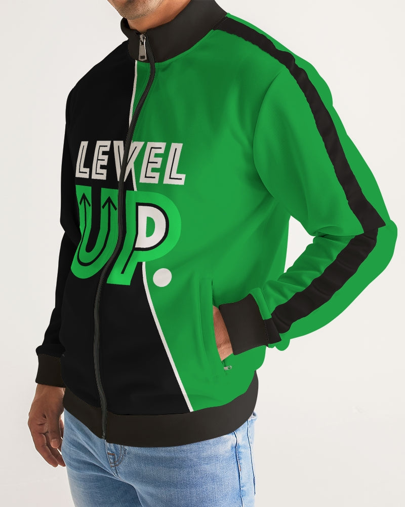 Level Up - Men Eco-Friendly Stripe-Sleeve Track Jacket
