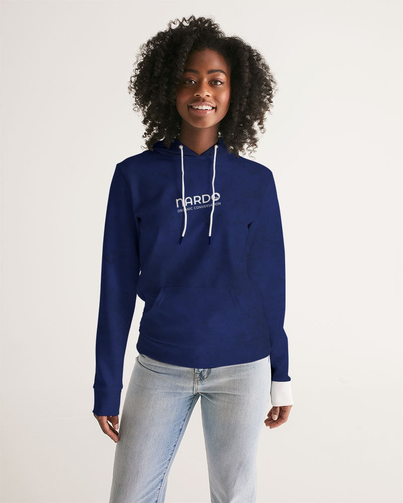 Nardo Organic Women's Blues & White Hoodie