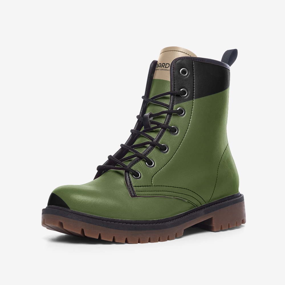 Nardo Organic Men Leather Army Boots - Green
