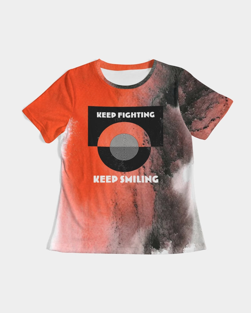 "Nardo Organic ""Keep Fighting Keep Smiling"" Women's Tee"