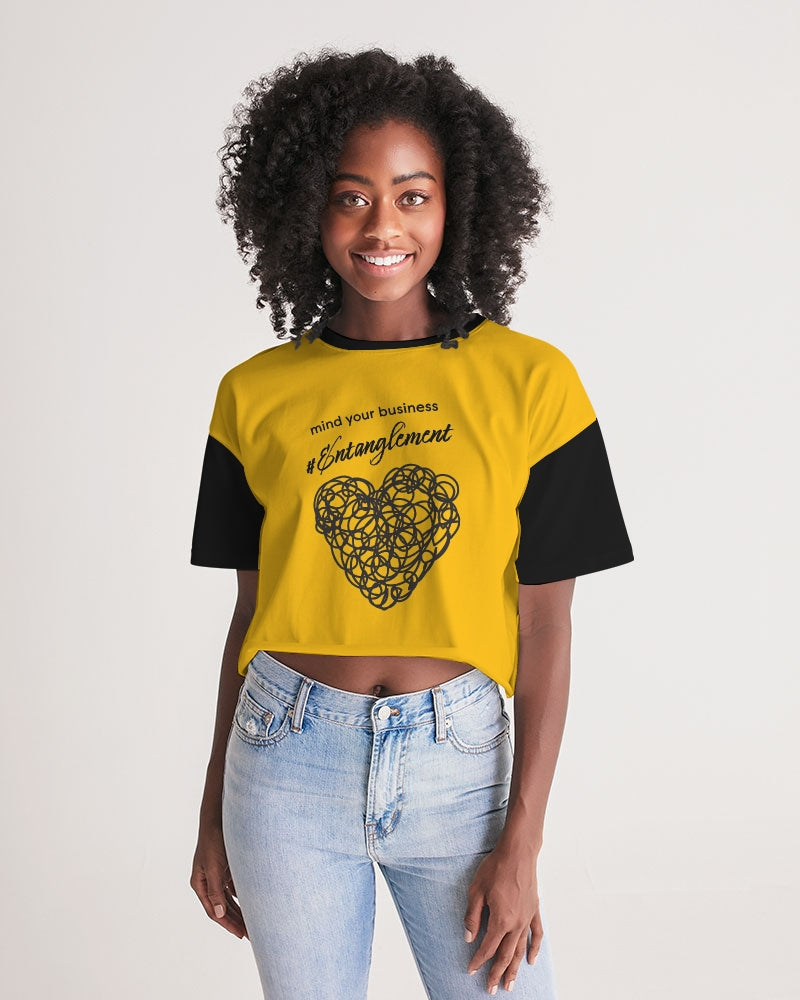 """mind your business #Entanglement"" Women Lounge Cropped Tee"