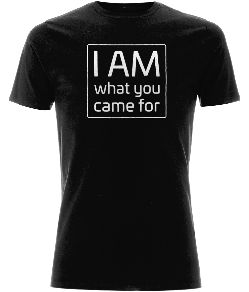 """I Am What You Came For"" Men Organic Cotton Tee - Classic Stretch"