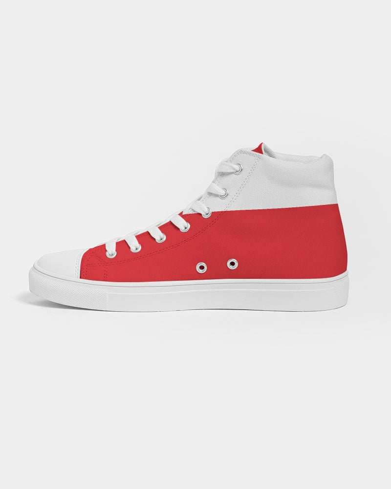 Nardo Organic Men High Top Canvas Shoes - New Red Classic
