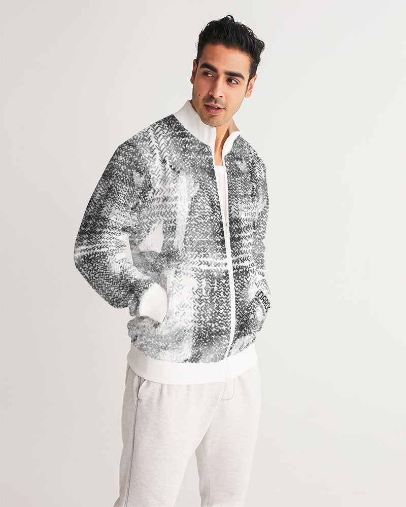 Black & White Mixit -Men Eco-Friendly Track Jacket