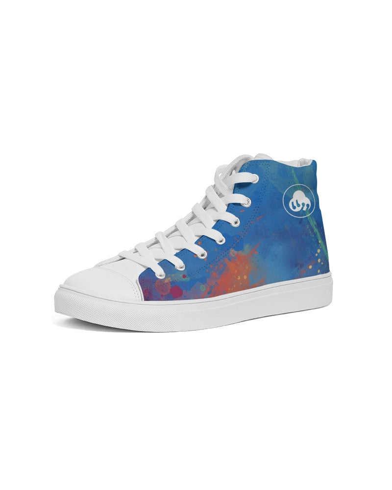 Nardo Organic Women's Artsy Blue Hightop Canvas Sneakers