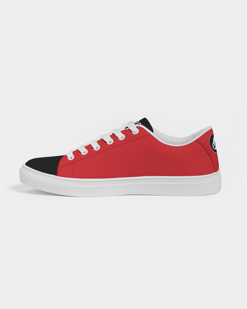 Nardo Organic Men's Classic Red Faux-Leather Sneaker