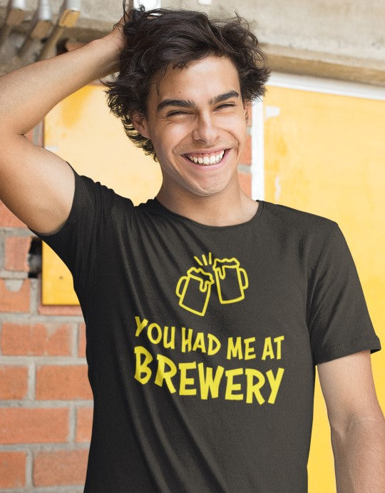 """You had me at Brewery"" Men Organic Cotton Tee - Boss Fit"