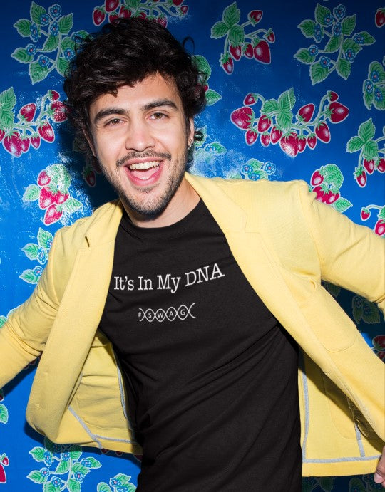 """It's In My DNA #swag"" Men Organic Cotton Tee - Slim Fit"