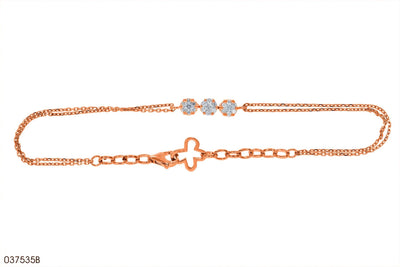 Diamond Florets Trilogy Bracelet in 18k Gold