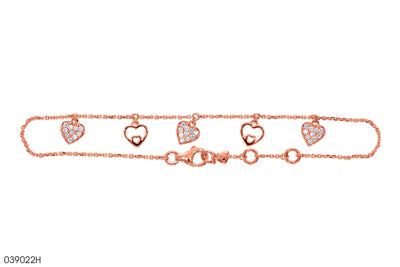 Line of Hearts Gold Bracelet - Jeem Noon