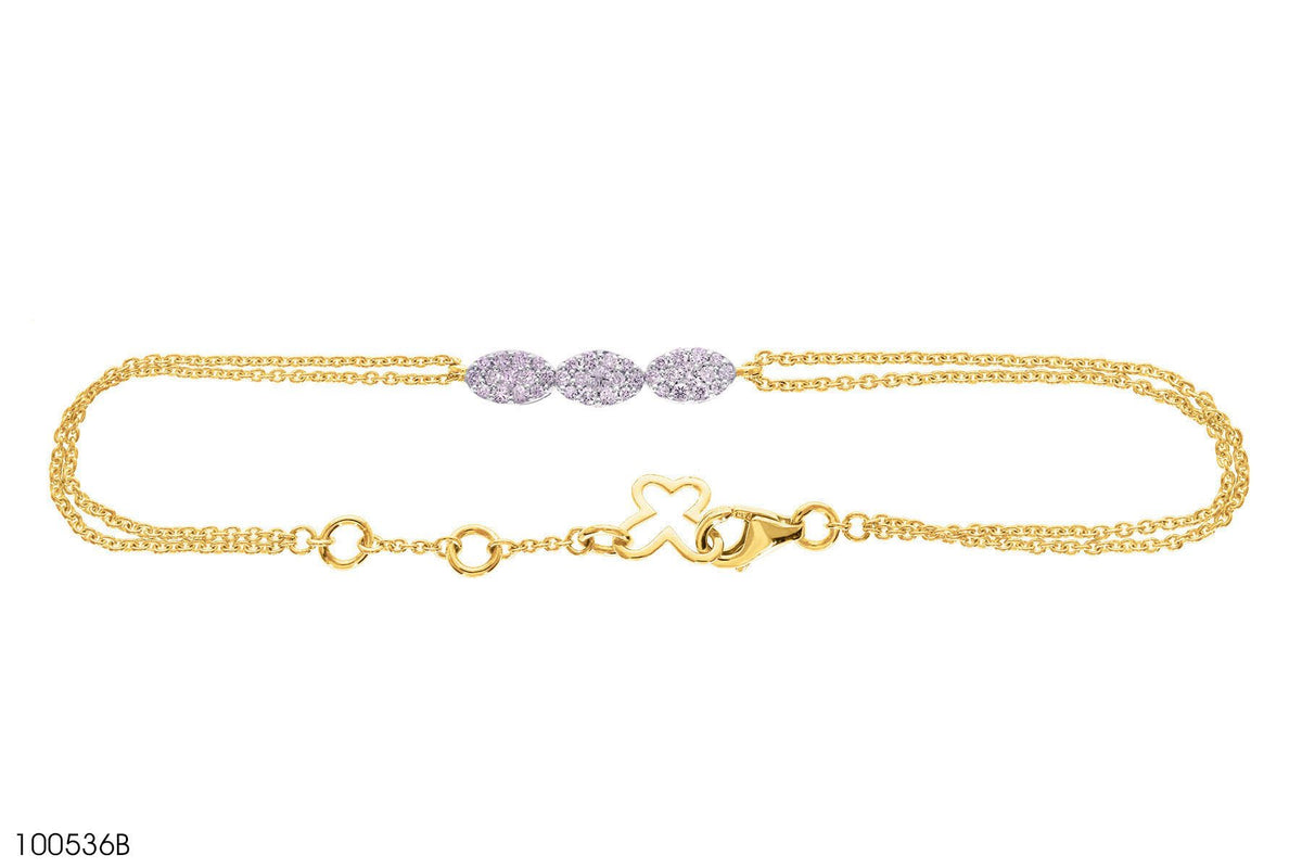 Diamond Ornate 18k Gold Bracelet