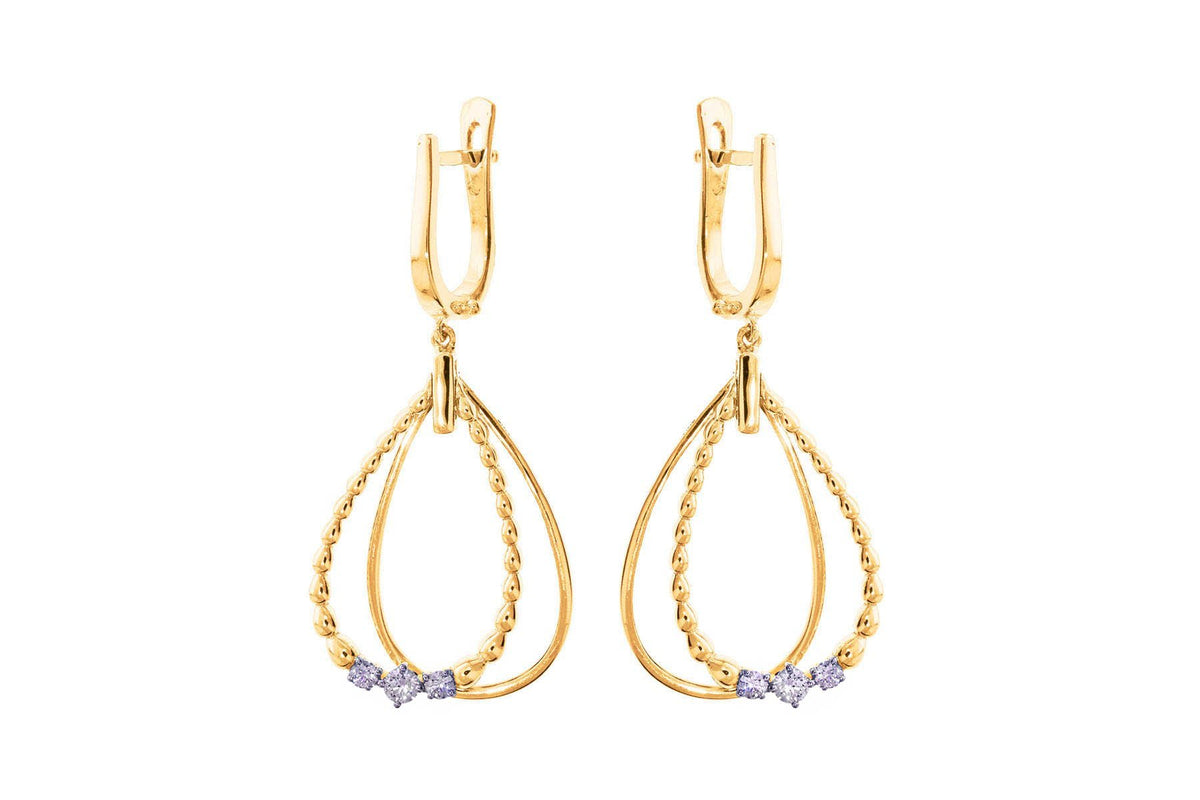 Charming Trio Diamond Earring