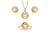 Seashell Composite Diamond Half-Set In 18K Gold