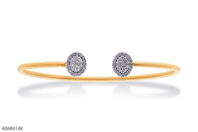 Classical Open Hoop Gold Bangle - Jeem Noon