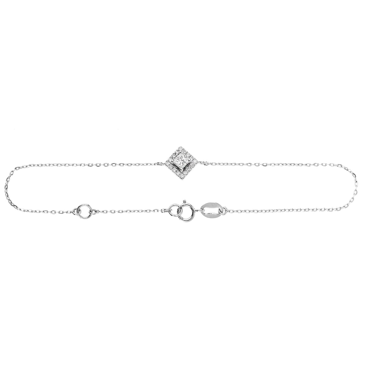 Dainty Diamond Bracelet In White Gold
