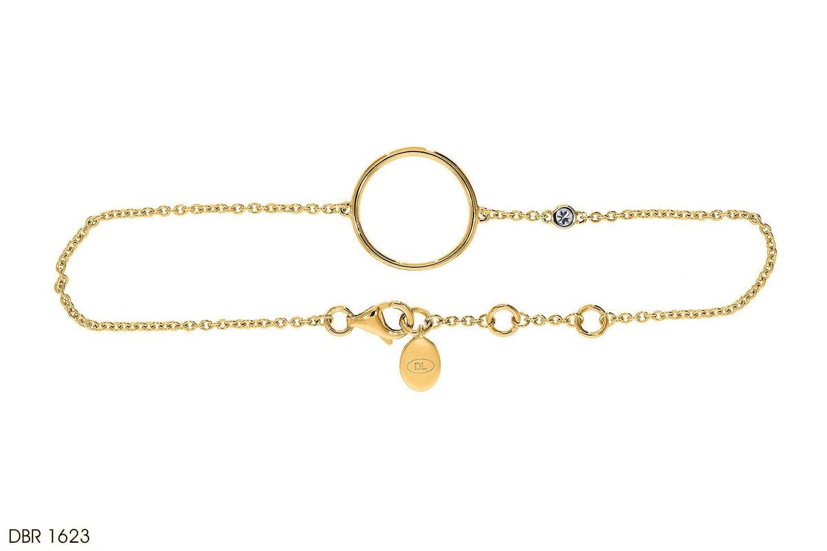 18k Gold Loop Diamond Bracelet