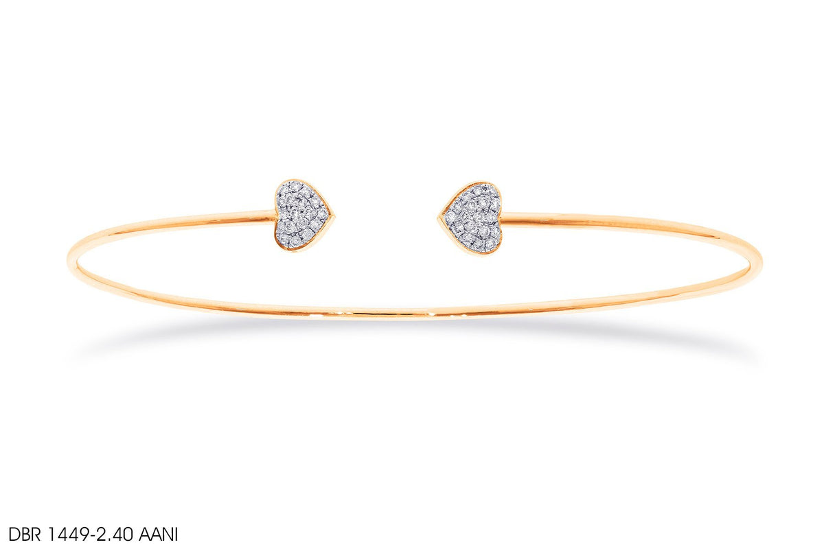 Loving Hearts Gold Bangle - Jeem Noon