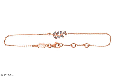Chained Leaf Gold Bracelet - Jeem Noon