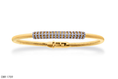 Twists Of Rope Gold Bangle - Jeem Noon