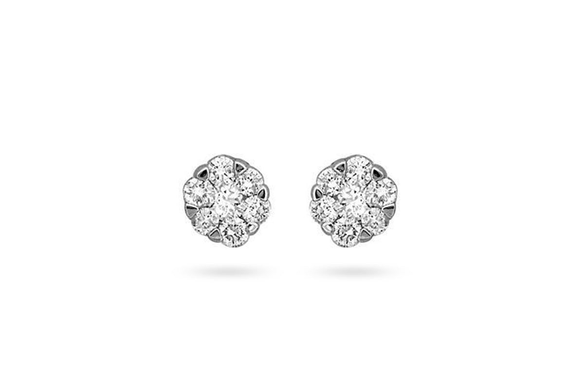 Fascinating Cluster Diamond Earring