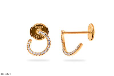 Ear Shaping Gold Earrings - Jeem Noon