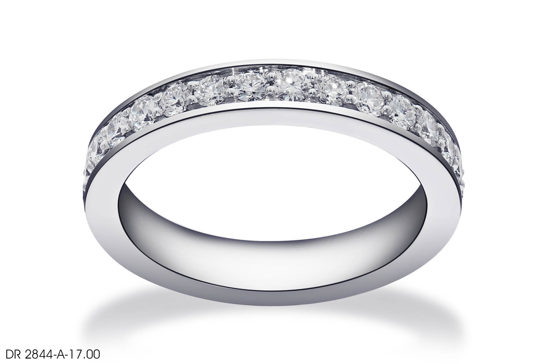 Intriguing Melee Diamond Wedding Band