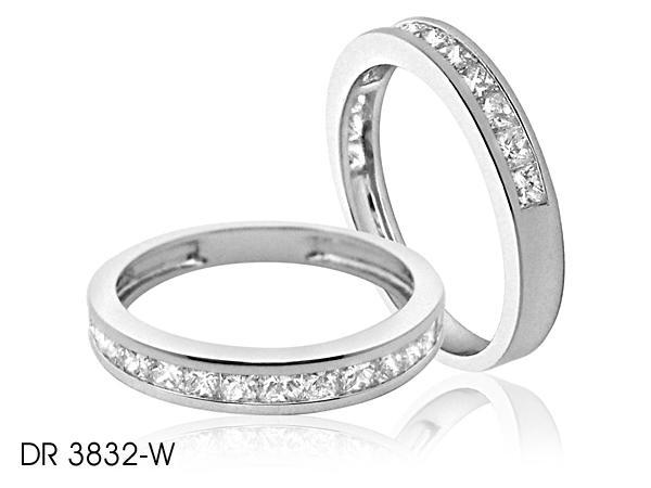 Glittering Small Diamond Wedding Band