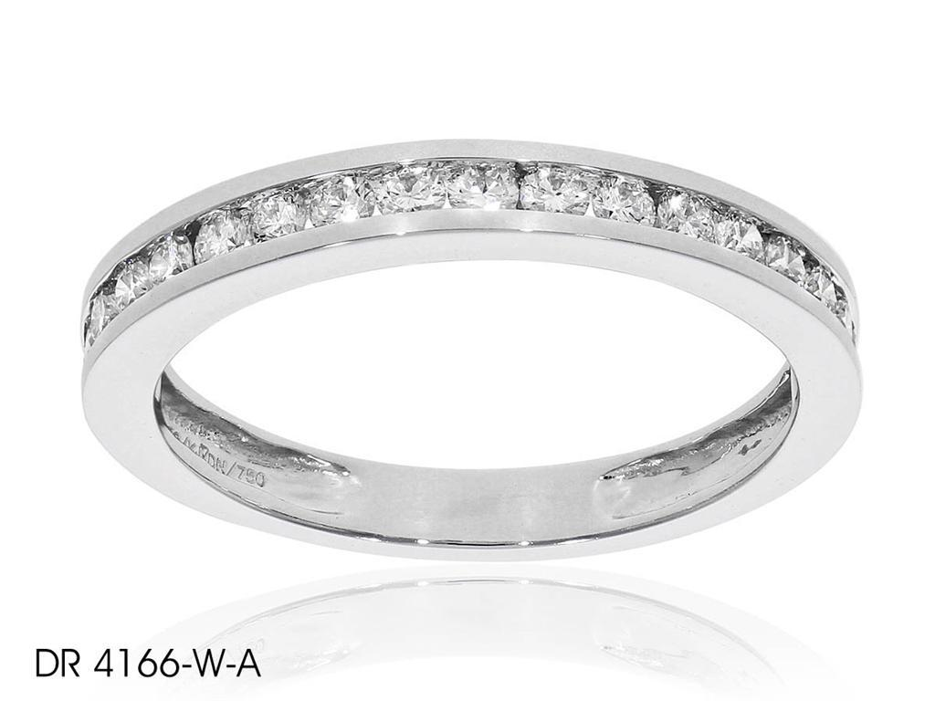 Channel Set Melee Diamond Wedding Band