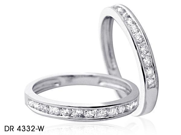 Brilliant Cut Diamond Wedding Band in 18k White Gold