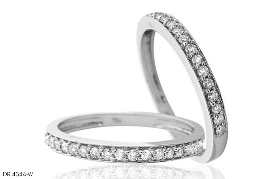 Channel Setting Brilliant Diamond Wedding Band