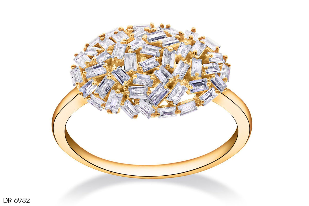 Galaxy Composite Diamond Ring In 18k Gold