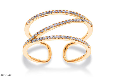 Molded Gold Band Ring - Jeem Noon