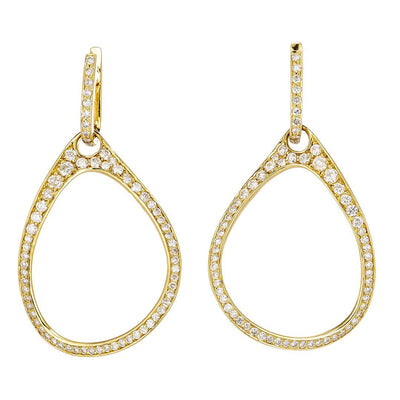 Round Accent Diamond Earrings In 18K Gold