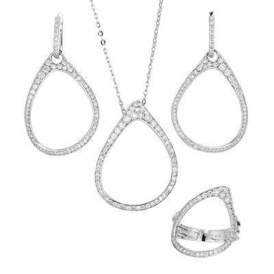 Elegant Hoop Diamond Half-Set In 18K Gold