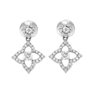 Star-Shaped Diamond Earring In Gold