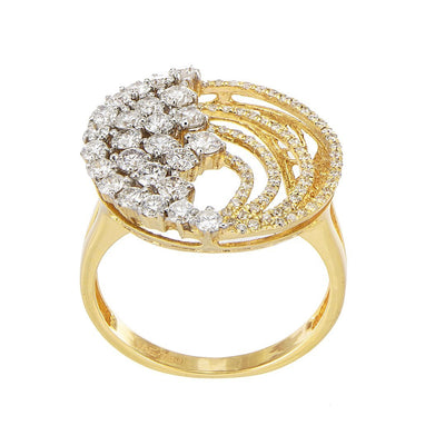 Celestial Accent Diamond Ring In 18K Gold