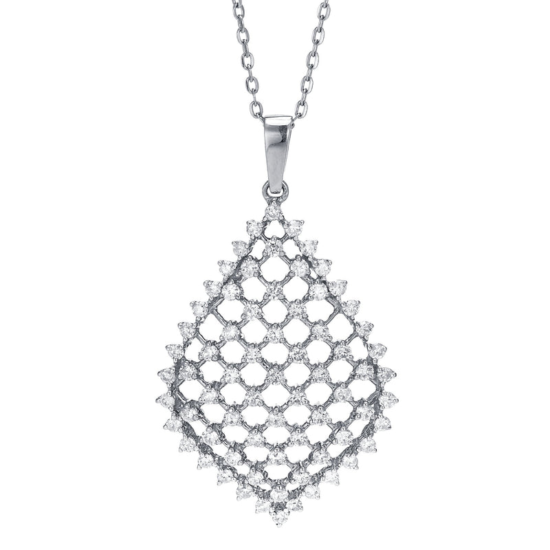 Lattice Accent Diamond Pendant