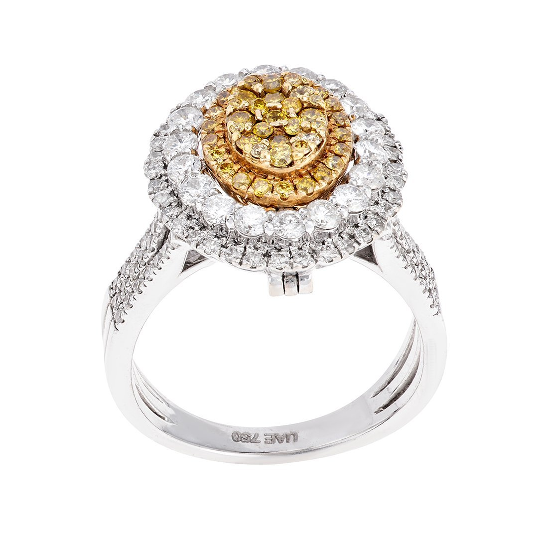 Alluring Diamond Accent Ring In White Gold