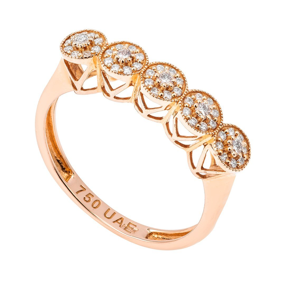 Charming Round Diamond Ring In 18K Gold